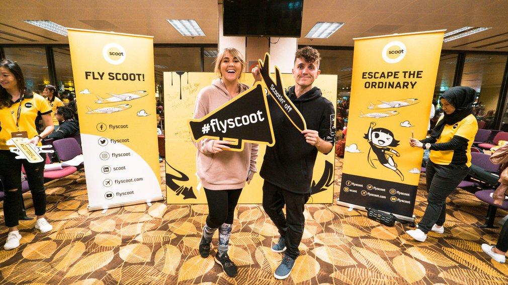 Inaugural scoot flight