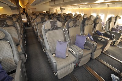 Japan Airlines economy class seat
