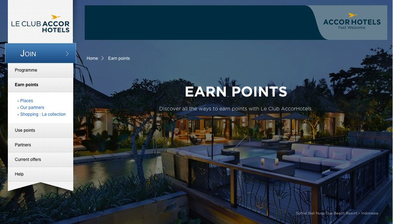 Earn Points into Accor