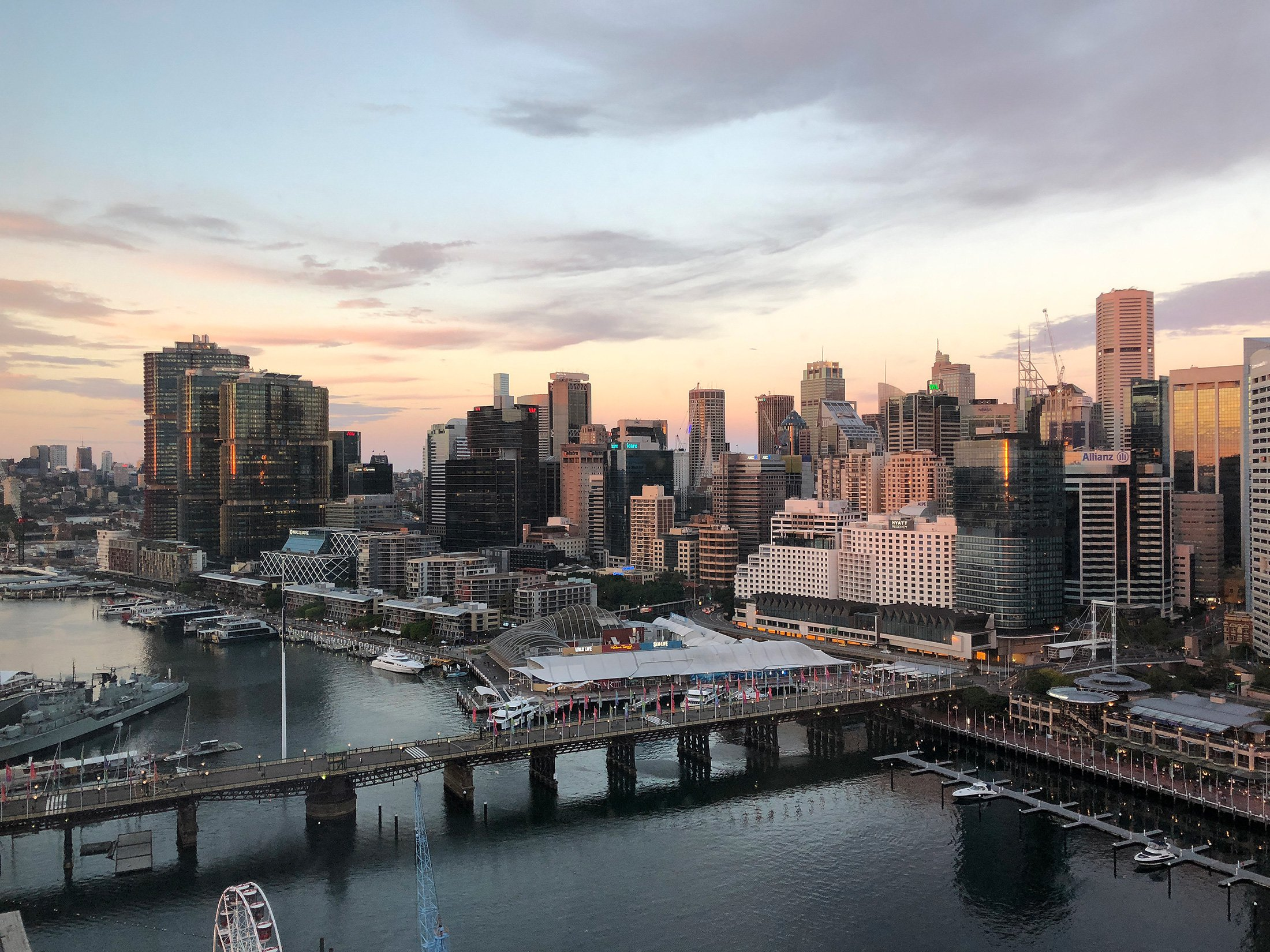The-view-of-Sydney-CBD-from-Sofitel-Darling-Harbour