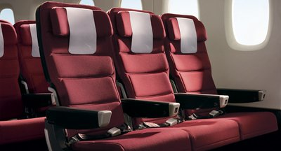Qantas international economy seat