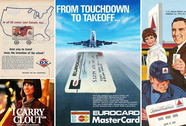 Vintage credit card print ads